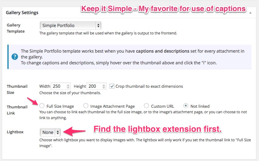 You need the lightbox extension. FooGallery settings.