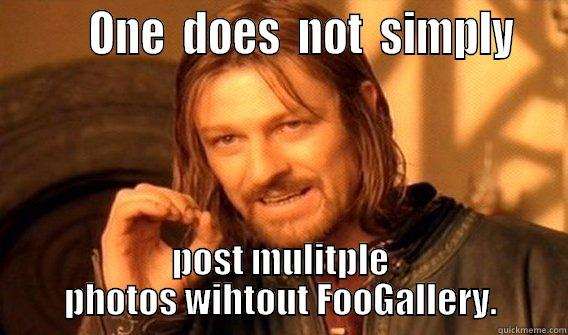 One does not simply post multiple photos without FooGallery.