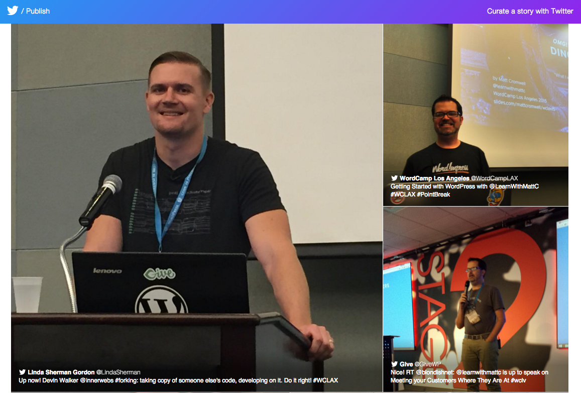 Screenshot of Twitter Moments 2015 WordCamps