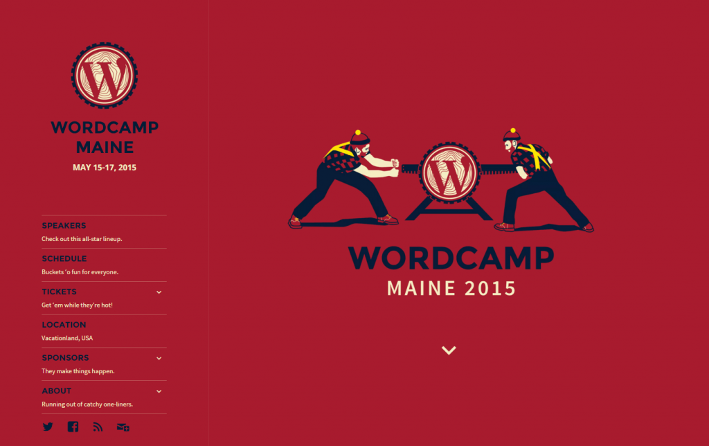 WordCamp Maine 2015 Website
