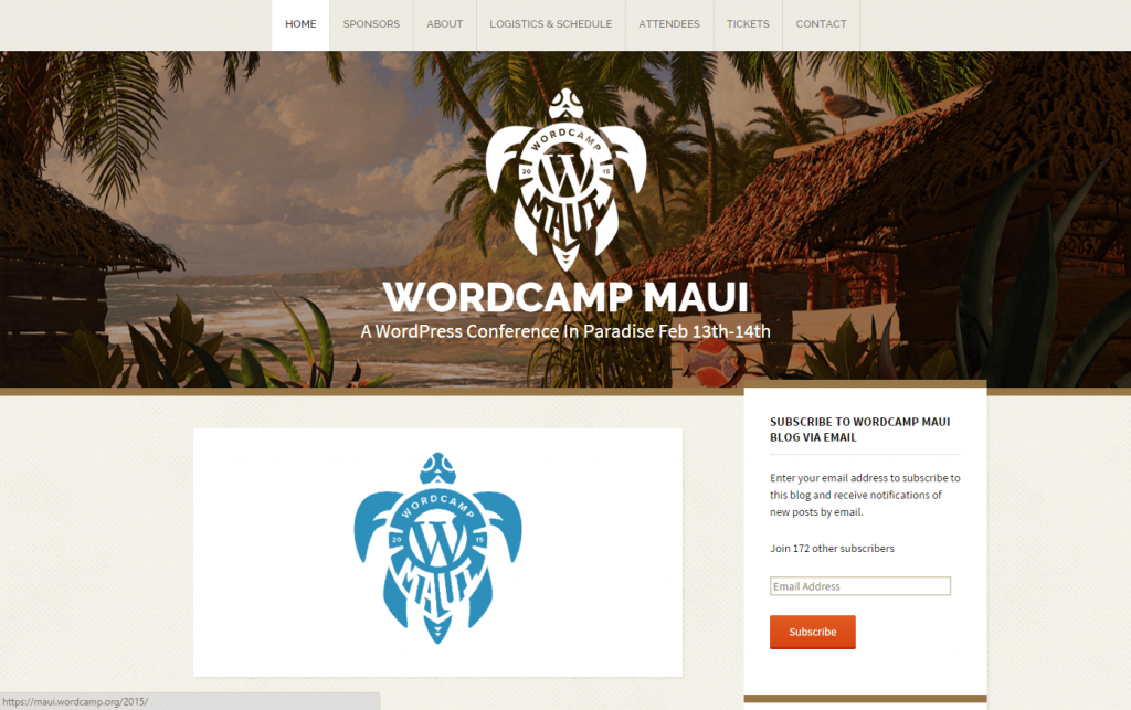 WordCamp Maui 2015 Website