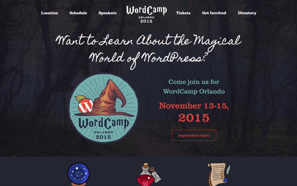 WordCamp Orlando 2015 Website