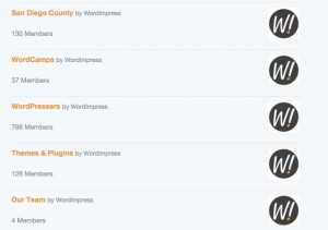 Screenshot of some of our Twitter lists for WordImpress.