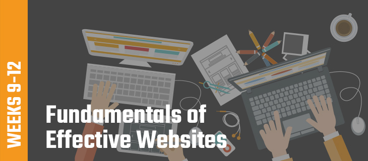 Weeks 9-12: Fundamentals of Effective Websites