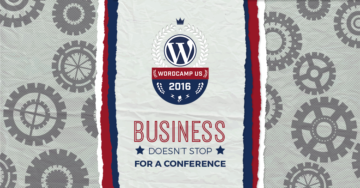 WordCamp US (WCUS) is the perfect event for a company retreat, but the business still needs to operate while we travel across the country.