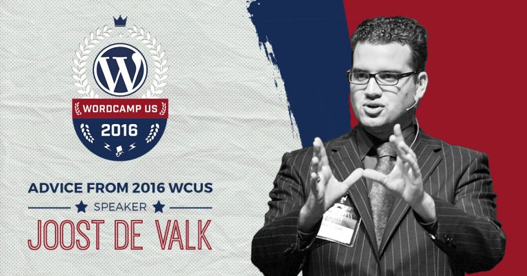 WordCamp US 2016 Speaker Joost de Valk spent some of his evening to chat with us about WordPress, the state of SEO, and, of course, advice about public speaking.