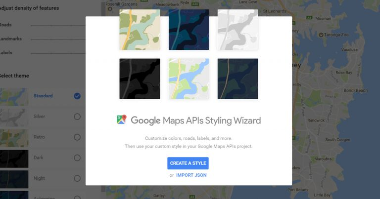 Google Style Wizard Home