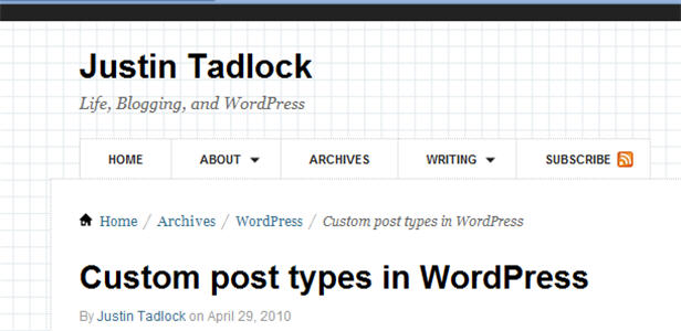 Justin Tadlock's Custom post types in WordPress