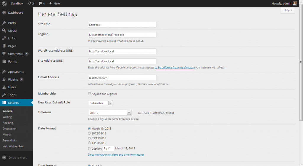 New WordPress Admin UI Settings Panel